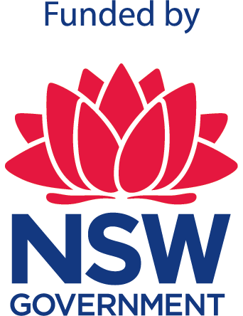 Official logo Funded by NSW Govt